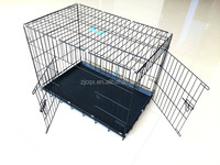 popular iron dog cage with two doors world-wide