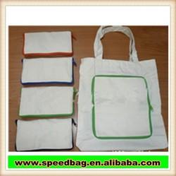 new design foldable canvas shopping bag environmental cotton bag with logo print R179-3