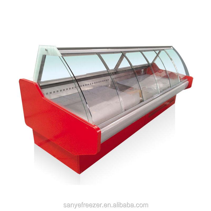 가슴 산업 사용 곡선 유리 도어 냉장고 우수한 제조