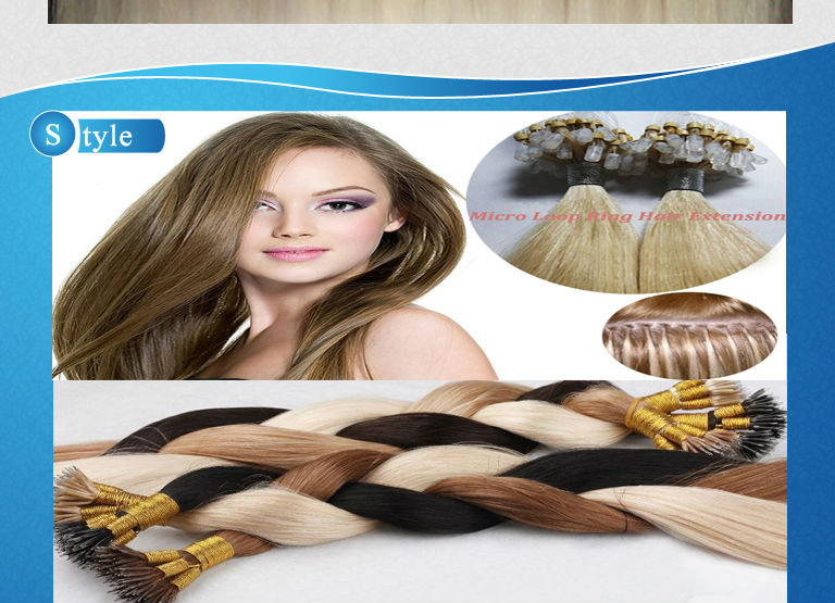 Chinese Remy Kinky Straight Micro Ring Hair 37