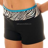Wholesale Sexy Women Nylon Spandex Sublimation Zebra Yoga Shorts