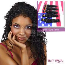 wholesale price AAAAA indian vergin deep curl human hairs