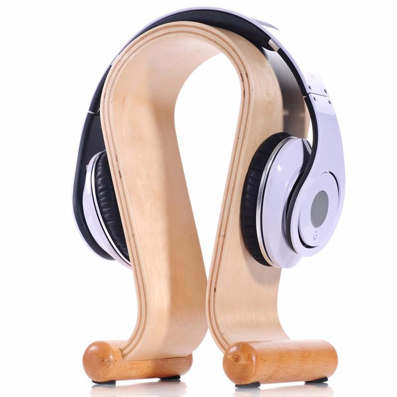 Luxury wooden earphone holder headset holder for earphone display buy earphone holder headset - Wooden headphone holder ...