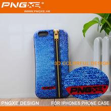 Retro Luxury zipped design 3D Printing TPU Case for iphone 6 for iphone 6 plus case