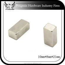 factory price long thin V shaped neodymium magnet from china