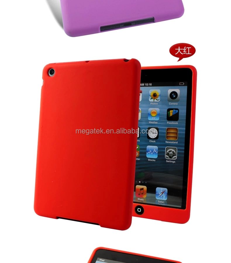 Tablet case cover for ipad rubber silicone case for ipad , for mini ipad case