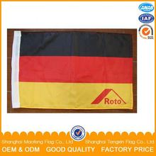 30x45cm polyester screen printing china supplier hand flag with 60cm pvc flag pole