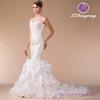 HM96848 Sweetheart Neckline Beaded Bodice Fuffle Skirt Slim Lace and Organza Sexy Mermaid Wedding Dress