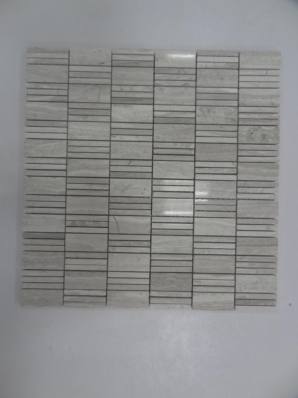 m032 houten grijze mozaïek tegel patronen gespiegeld tegels ...