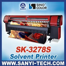 3.2m Large Format Inkjet Printer Sinocolor SK3278S With SPT510 Heads For Fast Outdoor Printing, 157sqm/h