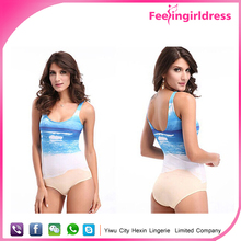 One Piece Beach Printed Lady Sexy Women Bathing Suits