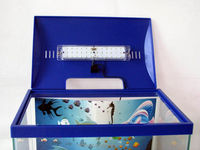 polyethylene fish tanks YG-13R with LED lamp
