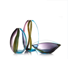 colored glass vases home decoration
