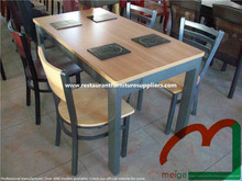 Chinese Restaurant Tables and Chairs with Hot Pot Table
