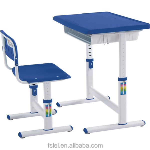 Adjustable Height Kids Study Desk and Chair Set for Student 600 x 600