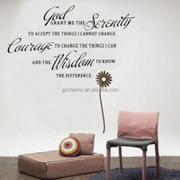 Wholesale High Quality God Grant Me The Serenity Prayer Bible Art Quote Vinyl Words Character Wall Stickers Home Bedroom Decal
