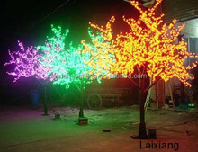 LED tree light 2014 new product artificial cherry blossom garden decoration plastic trees outdoor wedding outdoor lighted trees