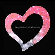 Wholesale decoraitve giant love heart shaped led lights for wedding party holiday by China supplier