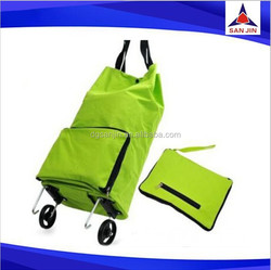 2015 Folding shopping bag with wheels