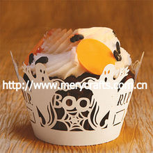 creative halloween decor! laser cut ghost cupcake wrappers halloween crafts to sell from Mery Craft