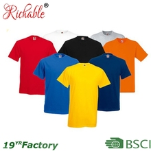 BSCI Hot Sales 2014 Custom Printing Logo Man Blank Cotton T-Shirts Wholesale In China Factory