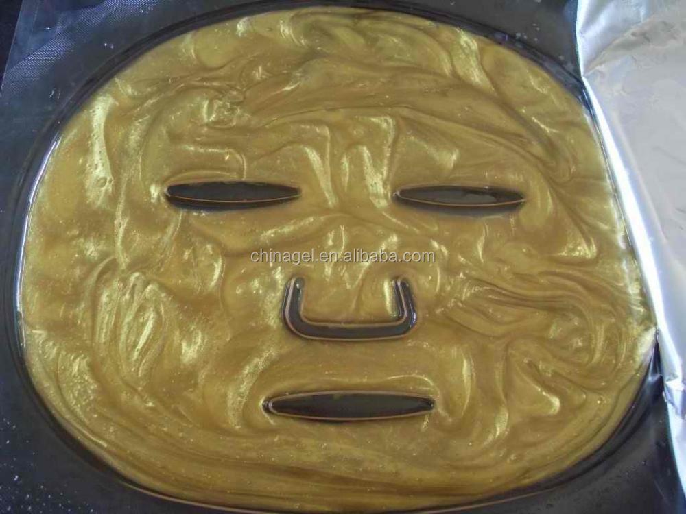 24 K absorbente nano lámina dorado colágeno de la mascarilla facial