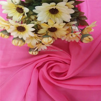 100% polyester woven plain dyed pleated chiffon fabric