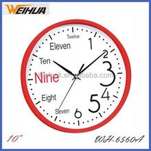 Decorative English and Arabic numerals wall clock