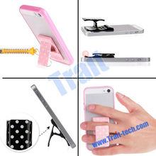 Udilis Factory Price Plastic Polka Dot DIY Ring Finger Clip Mount phone holder Stand for Samsung iPad tablet cell phone For ipho