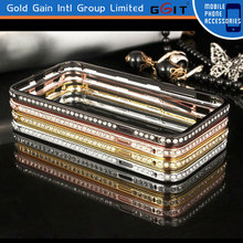 Metal and Diamond Bumper Case for IPhone 6,For IPhone 6 Bumper Case