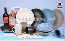 16pcs ceramic high quality color glaze matte finish dinnerware sets
