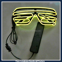 Fashion glow in the dark sunglasses led shutter shade sunglasses el wire sunglasses flashing led glasses