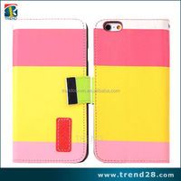 new launched products wallet style leather case for iphone 6
