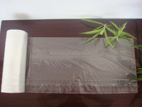 Hdpe Natural Flat Plastic Food Bag On Roll With Paper Core For Shopping