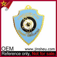 Wholesale Jin Sheu Cloisonne Souvenir Custom Metal Lapel Pin Badges Hard Enamel