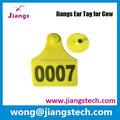 jiangs etiquetas rfid oído de electrónica etiqueta de oído para el ganado