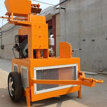 WT1-20 diesel engine compressed earth automatic interlocking making machine small scheme to gain money
