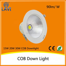 Positive light high power recessed round led cob downlight with CE&RoHS