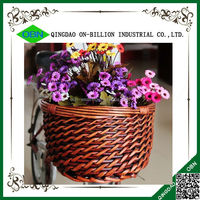 Willow bicycle basket removable decorative wicker bike basket