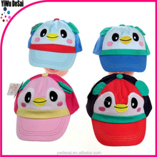 Manufacturer for the new baby cartoon baseball cap, penguins children sun hat