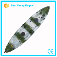3 Person Plastic Canoe Sit On Top Boat Fishing Kayak For Sale