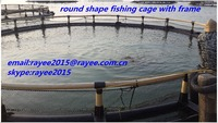 fish cage floating uganda, green knotless fish cage in fishing net / jaulas de cria de peces de acuicultura