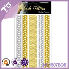 Cool Tattoo Stickers Stencils For Painting Body Art Temporary Waterproof Glitter Metal Golden Crown Lotus Loves Color Tattoos