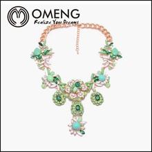 Resin Handmade Flower Statement Necklace Choker Collar For Girl Women