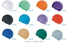 solid silicone cap swim hats