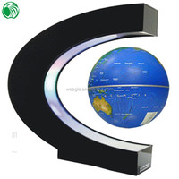 High end gift C shape base 3 inch floating globe significant summer gift
