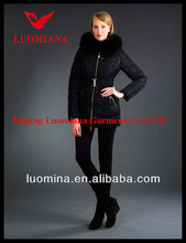 Fashion Shiny High Quality Goose Down Jacket for Women