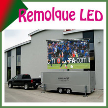 one side led display with trailer, for activity o advertising, mobile hd video led board