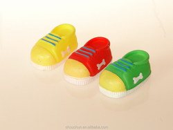 new design squeaky small shoes vinyl dog toys rubber pet toys