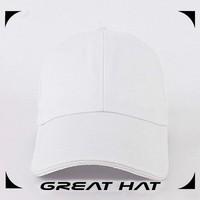 2015 Latest sport cap closed back plain white baseball caps